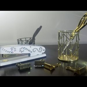 Accessories - 10 Piece Gold Hand Customized Office Set